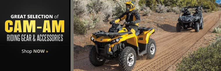We have a great selection of Cam-Am riding gear and accessories!