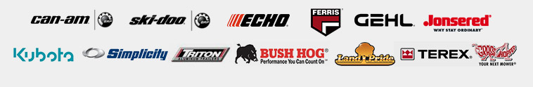 We carry products from Can-Am, Ski-Doo, Echo, Ferris, Gehl, Jonsered, Kubota, Simplicity, Triton, Bush Hog, Land Pride, Terex, and Grasshopper.