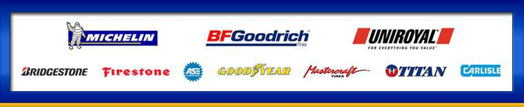 We proudly carry products from Michelin®, BFGoodrich®, Uniroyal®, Bridgestone, Firestone, Goodyear, Mastercraft, Titan, and Carlisle. Our technicians are ASE certified.
