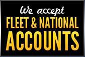 We Accept Fleet & National Accounts