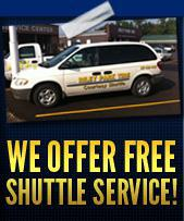 We offer free shuttle service!