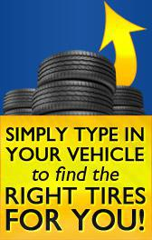 Simply type in your vehicle to find the right tires for YOU!