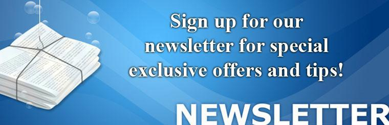 Sign up today for our newsletter!