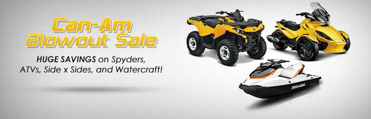 Can-Am Blowout Sale: Take advantage of huge savings on Spyders, ATVs, side x sides, and watercraft!