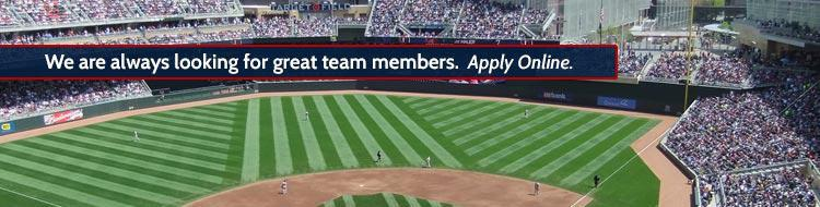 We are always looking for great team members. Apply Online.