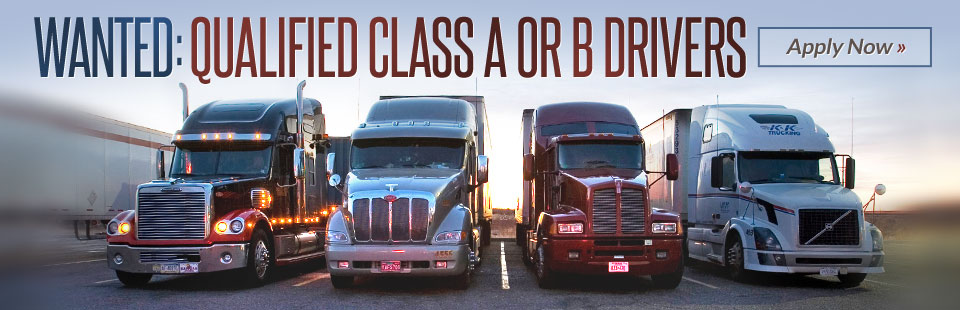 Qualified Class A or B Drivers Wanted: Click here to apply.