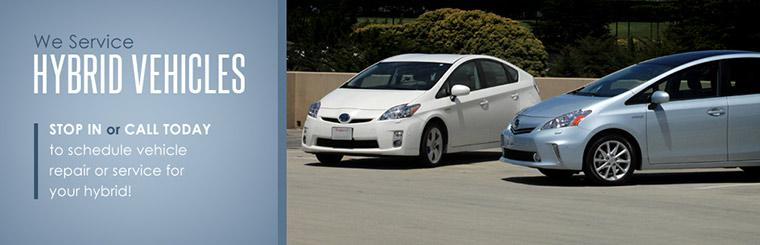 We service hybrid vehicles! Stop in or call today to schedule vehicle repair or service for your hybrid.