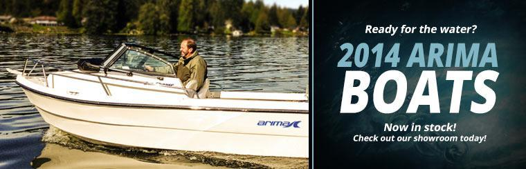 The 2014 Arima boats are now in stock! Check out our showroom today.