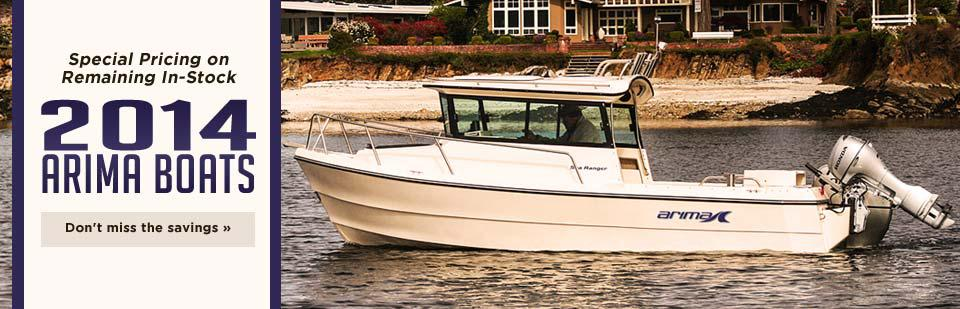 Special Pricing on Remaining In-Stock 2014 Arima Boats: Don't miss the savings!