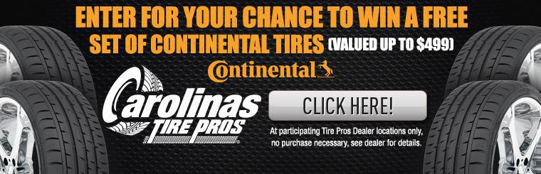 Continental Tire Giveaway. Click here.