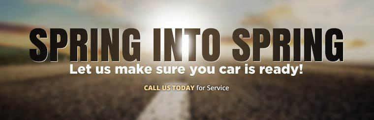 Let us make sure your car is ready for spring! Call us today for a service.