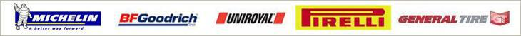 We proudly offer products from Michelin®, BFGoodrich®, Uniroyal®, Pirelli, and General.