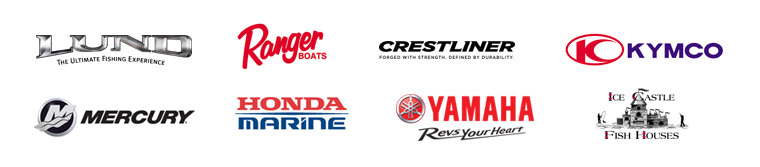 Corner Sports is an authorized dealer for Lund Boats, Ranger Boats, Crestliner, Kymco, Mercury, Honda Marine, Yamaha, and Ice Castle.