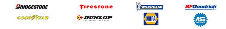 We carry products from Bridgestone, Firestone, Michelin, BFGoodrich, Goodyear, and Dunlop. We are affiliated with NAPA AutoCare, and we are ASE certified.
