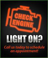 Check Engine light on? Call us today to schedule an appointment!