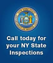 Call today for your NY State Inspections.