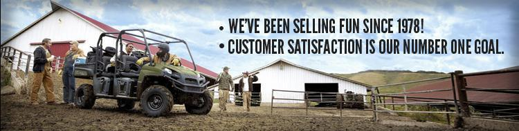 At D & J's Polaris, we've been selling fun since 1978! Customer satisfaction is our number one goal.