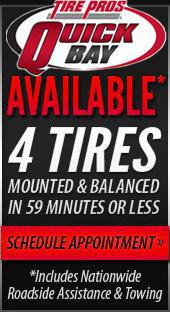 4 Tires mounted & balanced in 59 minutes or less.