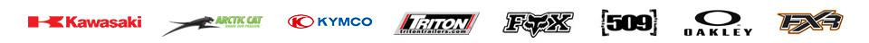 We carry products from Kawasaki, Arctic Cat, KYMCO, Triton Trailers, Fox Racing, 509, Oakley, and FXR.