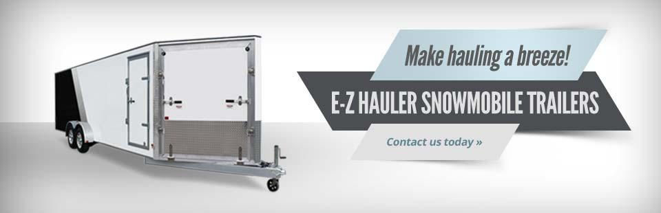 We carry E-Z Hauler snowmobile trailers!