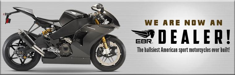 We are now an Erik Buell Racing motorcycle dealer! Contact us for details.