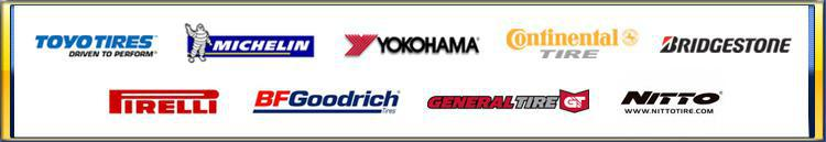 We proudly carry products from Toyo, Michelin®, Yokohama, Continental, Bridgestone, Pirelli, BFGoodrich®, General, and Nitto.