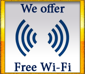We offer free wi-fi!
