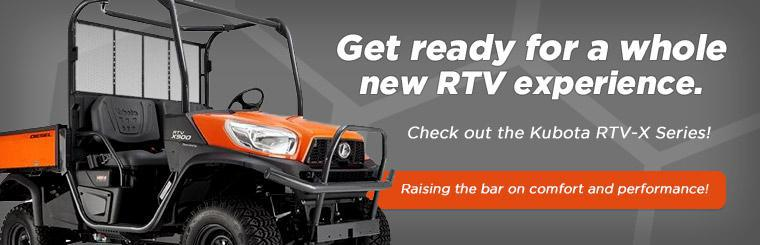 Get ready for a whole new RTV experience. Check out the Kubota RTV-X Series!