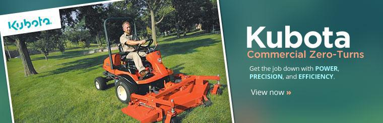 Kubota Commercial Zero-Turns: Get the job down with power, precision, and efficiency.