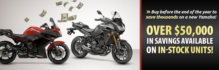Buy before the end of the year to save thousands on a new Yamaha! We have over $50,000 in savings available on in-stock units!