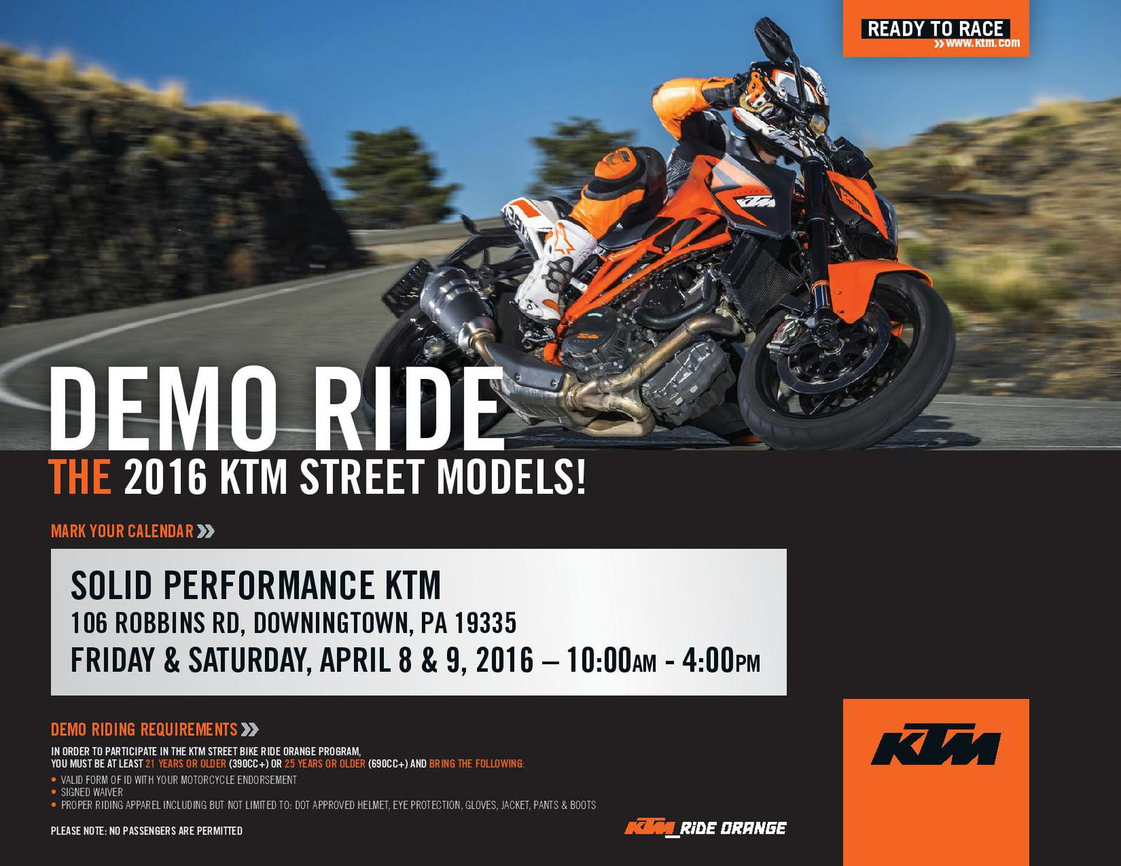 events solid performance ktm downingtown, pa 484-593-0095
