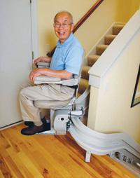 CRE-2110 Electra –Ride III Curved Rail Stairlift by Bruno