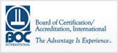 Board of Certification/Accreditation, International: The Advantage is experience.