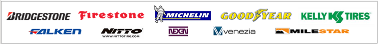 We carry products from Nexen, Venezia, Milestar, Falken, Goodyear, Kelly, Bridgestone, Firestone, Michelin®, and Nitto.