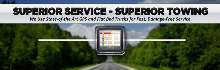 We use state-of-the art GPS and flat bed trucks for fast, damage-free service! Contact us for details.