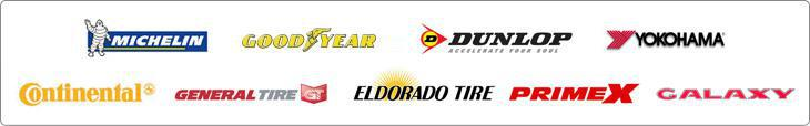 We carry products by Michelin®, Goodyear, Dunlop, Yokohama, Continental, General, Eldorado Tire, Primex, and Galaxy.