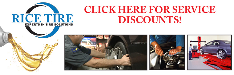 Rice Tire Service Specials
