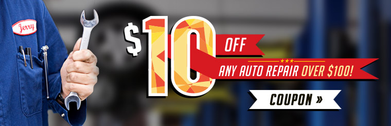 Receive $10 off any auto repair over $100! Click here for the coupon.