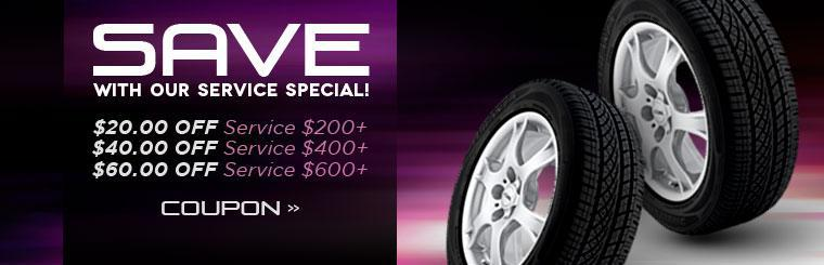 Save with our Service Special! Click here to print the coupon.