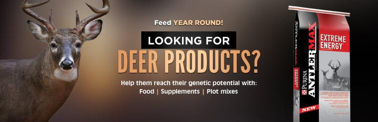 Looking for deer products? Help them reach their genetic potential with food, supplements, and plot mixes!