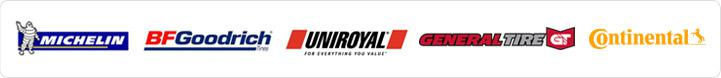 We are proud to carry tires from Michelin®, BFGoodrich®, Uniroyal, General Tire and Continental!