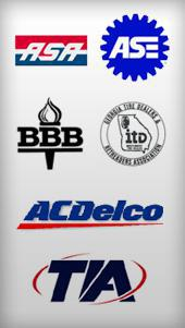 ASA, ASE, BBB, Georgia Tire Dealers, ACDelco and TIA.