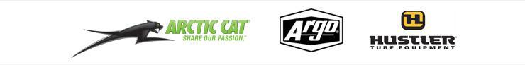 We carry products from Arctic Cat, ARGO, and Hustler.