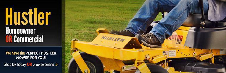 We have the perfect Hustler mower for you! Stop by today or click here to browse online.