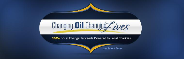 100% of oil change proceeds are donated to local charities on select days. Contact us to learn more.