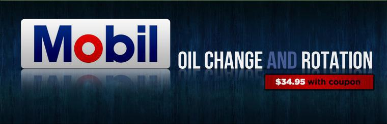 Get a Mobil oil change and rotation for just $34.95. Click here for the coupon.