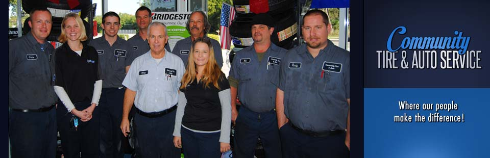 Community Tire & Auto Service - Where our people make the difference!