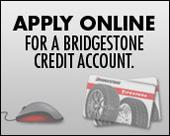 Apply online for a Bridgestone credit account.
