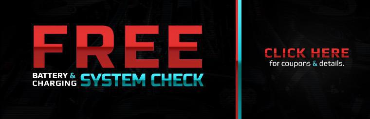 Free Battery & Charging System Check: Click here for details.