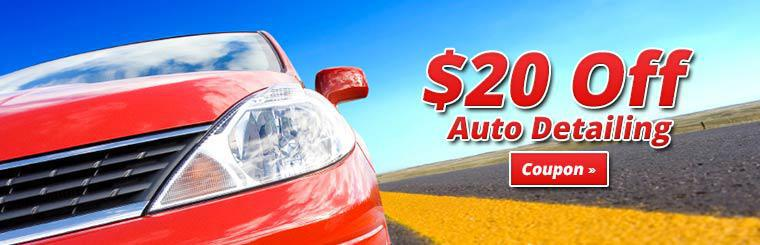 Get 15% off auto detailing. Click here for coupon.